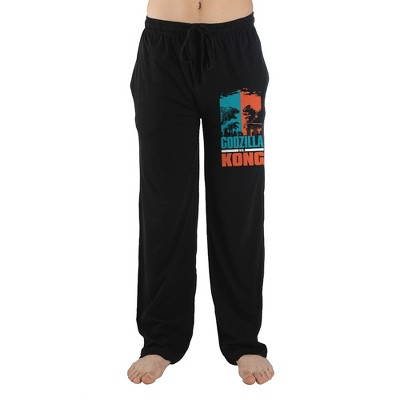Godzilla V. King Kong Monster Movie Mens Black Sleep Pants