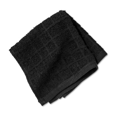 Washcloth Grid Texture Bath Towels And Washcloths Black - Room Essentials™