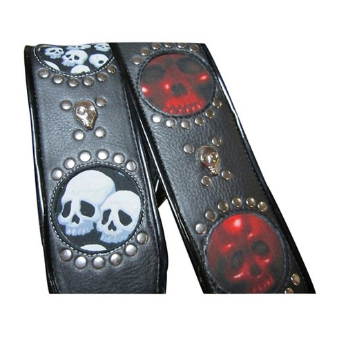 Jodi Head Voodoo Jessee Red Skull with Studs Guitar Strap - image 1 of 1