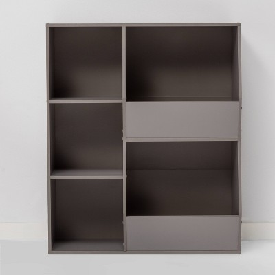 Cube Bookshelf with Potato Bins Gray - Room Essentials™