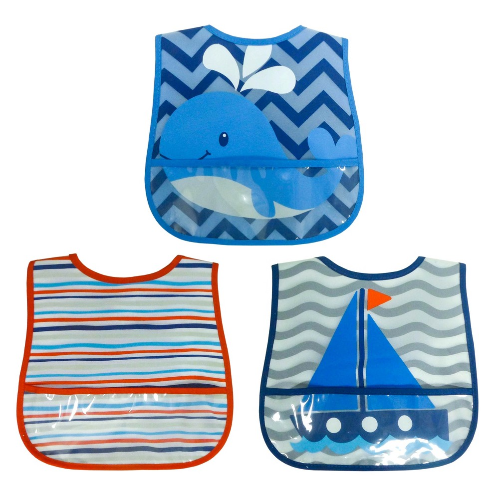Image of Neat Solutions Peva Bib - 3pk - Blue