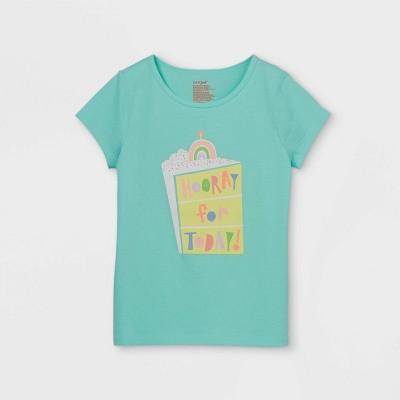Girls' Adaptive Birthday Short Sleeve Graphic T-Shirt - Cat & Jack™ Mint