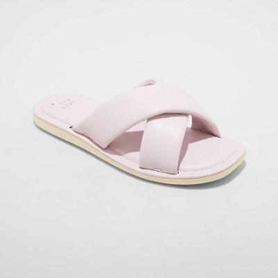 Women's Daisy Crossband Slide Sandals - A New Day™