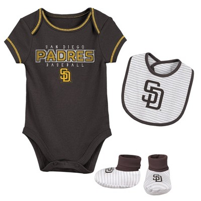 MLB San Diego Padres Baby Boys' Short Sleeve Layette Set