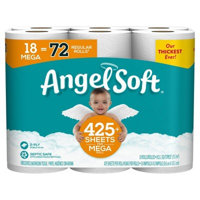 Angel Soft Toilet Paper - 18 Mega Rolls
