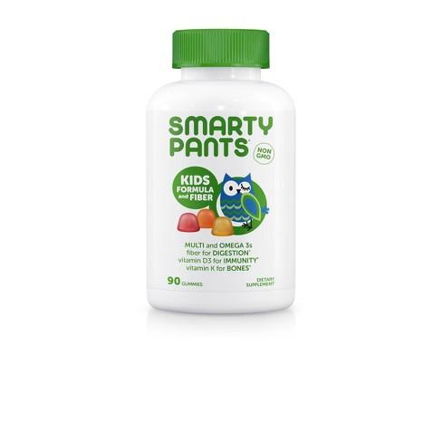 SmartyPants Kids Formula and Fiber Gummies - Lemon, Orange & Strawberry Banana - 90ct - image 1 of 4