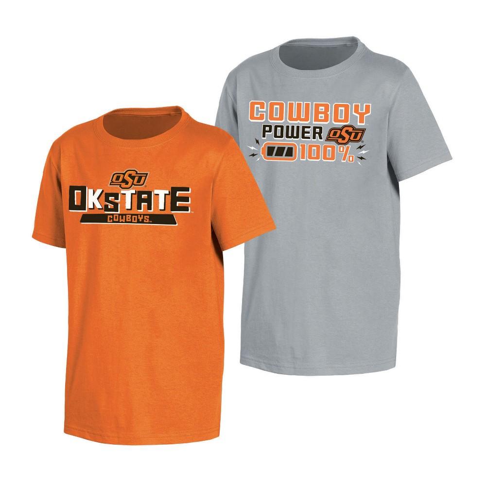NCAA Toddler Boys' 2pk T-Shirt Oklahoma State Cowboys - 2T, Multicolored