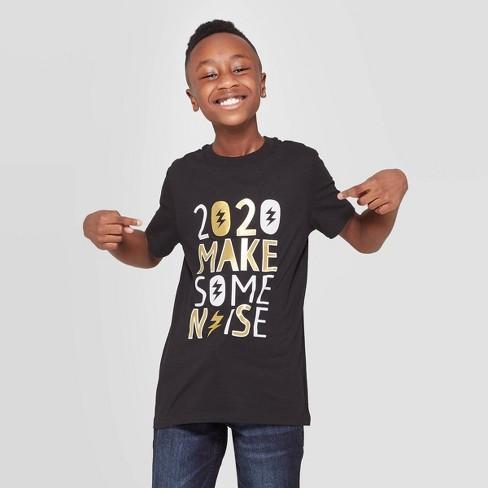 Boys New Years Short Sleeve Graphic T-Shirt - Cat & Jack™ Black - image 1 of 3