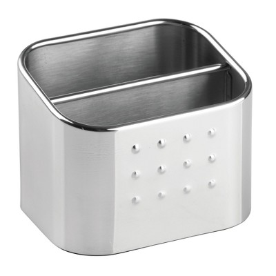 InterDesign Forma Stainless Steel Scrub Hub Sponge Caddy Polished