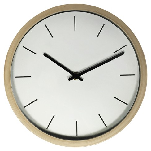 "10"" Wall Clock 10"" Birch Finish - Westclox® - image 1 of 1"