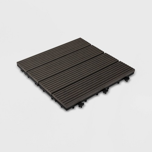 9pk Wood Plastic Composite Deck Tile Set - Gray - Courtyard Casual