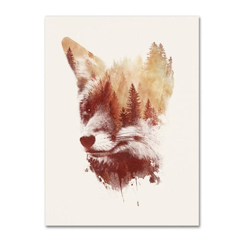 "'Blind Fox' by Robert Farkas Ready to Hang Canvas Wall Art (24""x32"") - image 1 of 3"