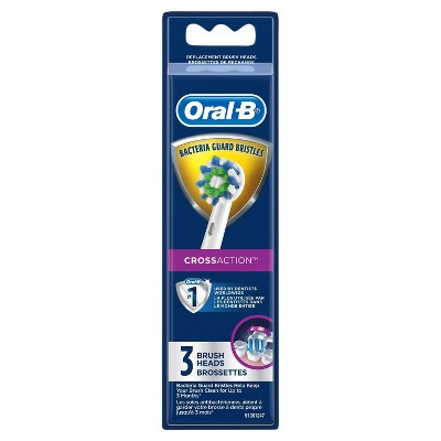 Oral-B Cross Action Electric Toothbrush Replacement Brush Heads - 3ct