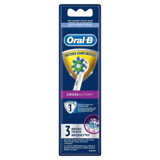 Oral-B Cross Action Electric Toothbrush Replacement Brush Heads - 3ct : Target