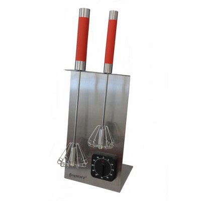 "BergHOFF 16.5"" 18/10 Stainless Steel Whisk Stand & Timer Set, Red"