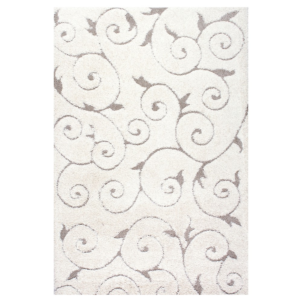 Off White Solid Loomed Area Rug - (9'2x12') - nuLOOM, Beige