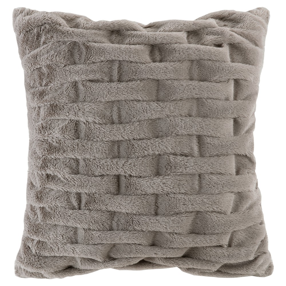 Gray Solid Throw Pillow, Decorative Pillow