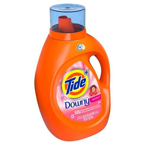 Tide Plus Downy April Fresh High Efficiency Liquid Laundry Detergent - 92 fl oz - image 1 of 3