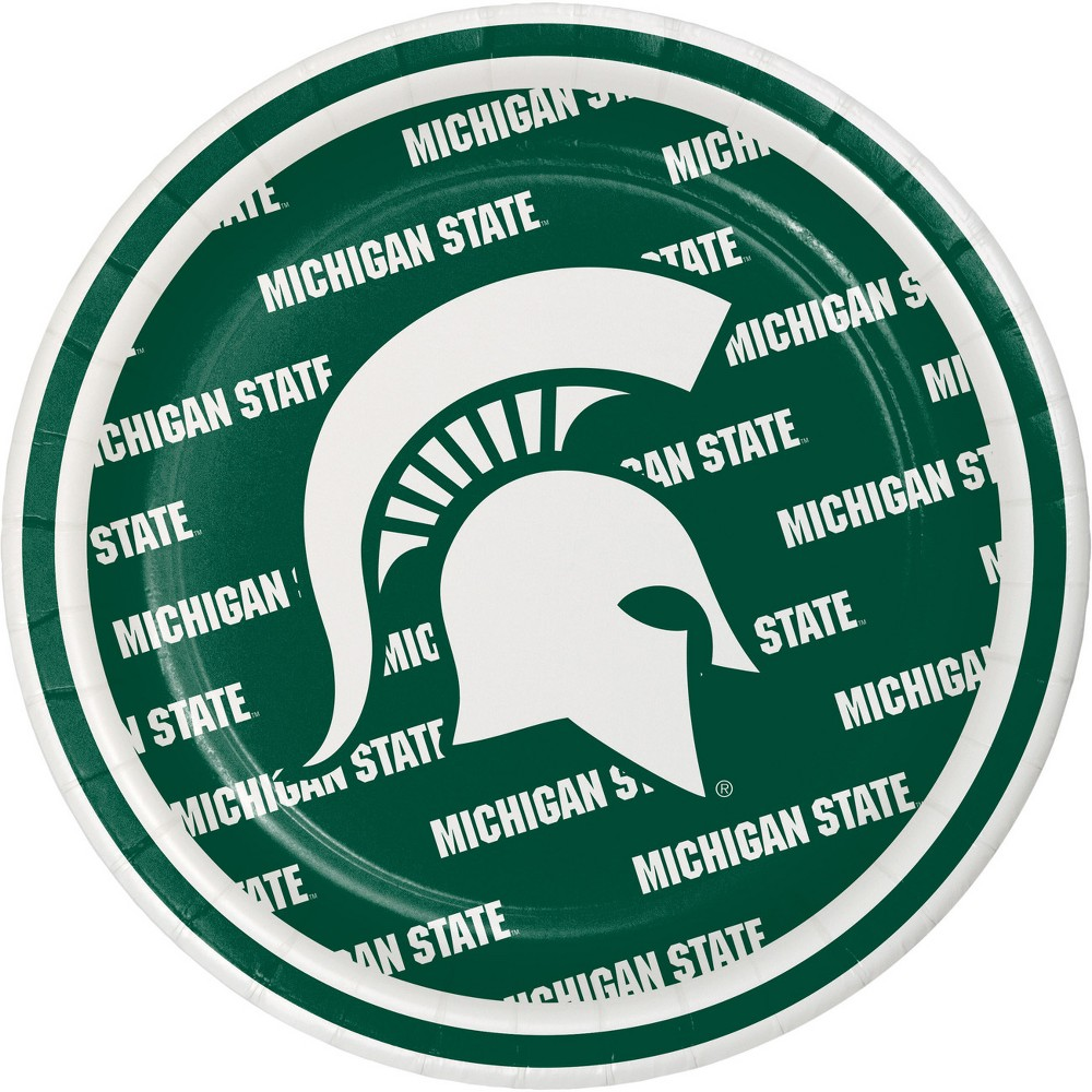 Image of 24ct University Of Michigan State Spartans Dessert Plates Green