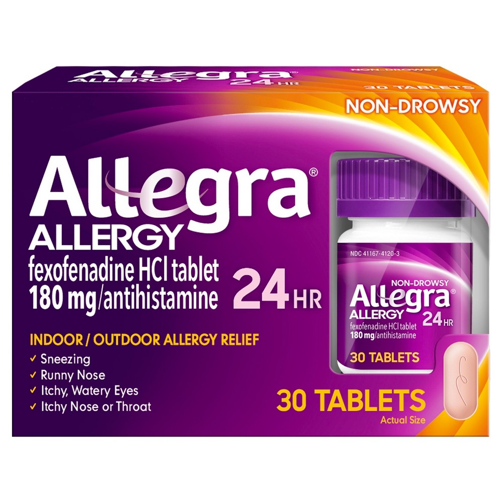 Allegra 24 Hour Allergy Relief Tablets - Fexofenadine Hydrochloride - 30ct