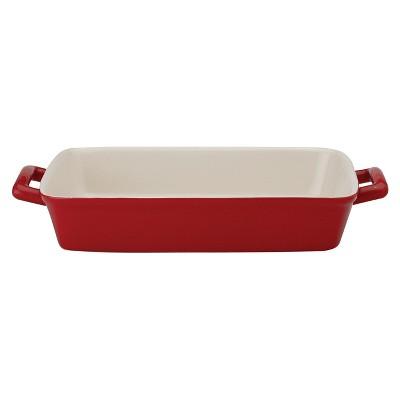 Mrs. Anderson's Baking Rose Ceramic 9 x 13 Inch Lasagna Pan