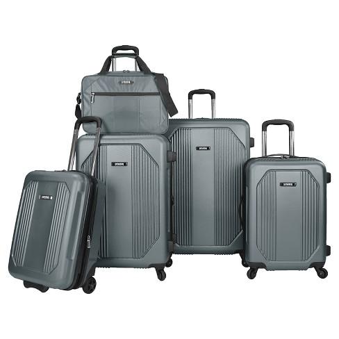 96a8e808de U.S. Traveler Bloomington 5-Piece Spinner Luggage Set   Target