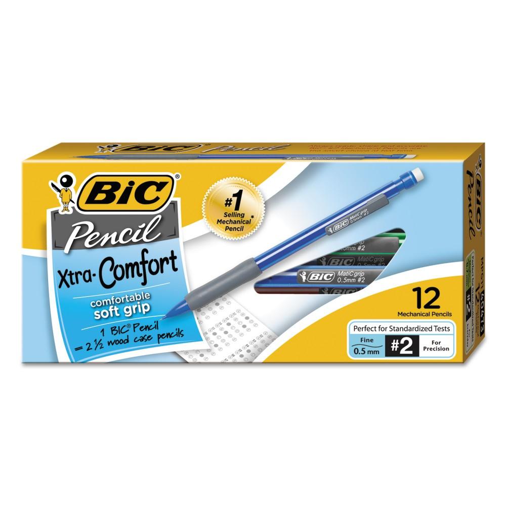 Bic Matic Grip HB #2 0.5mm Mechanical Pencil with Assorted Barrels - 12ct - 2 Pack, Assrt