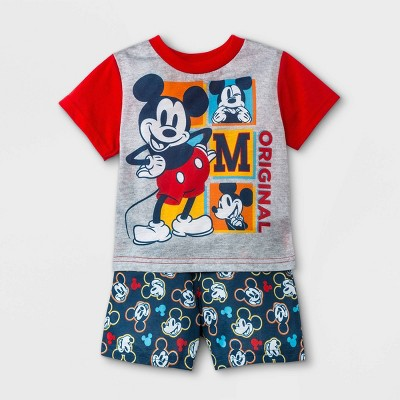 Baby Boys' Mickey Mouse & Friends Pajama Set - Red
