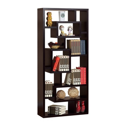 Wooden Display Cabinet With Multi Open Shelves Brown - Benzara - image 1 of 4