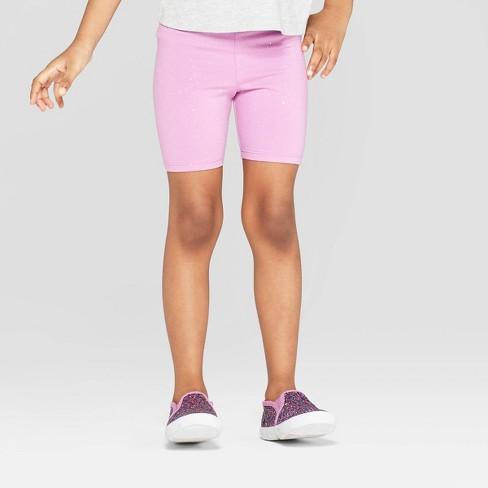 Toddler Girls' Bike Shorts - Cat & Jack™ Violet - image 1 of 3