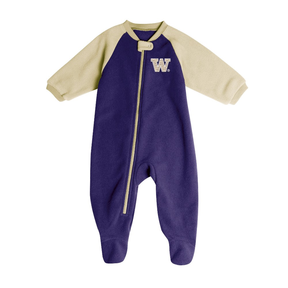 Washington Huskies Baby Boys' Long Sleeve Blanket Sleeper - 0-3M, Multicolored