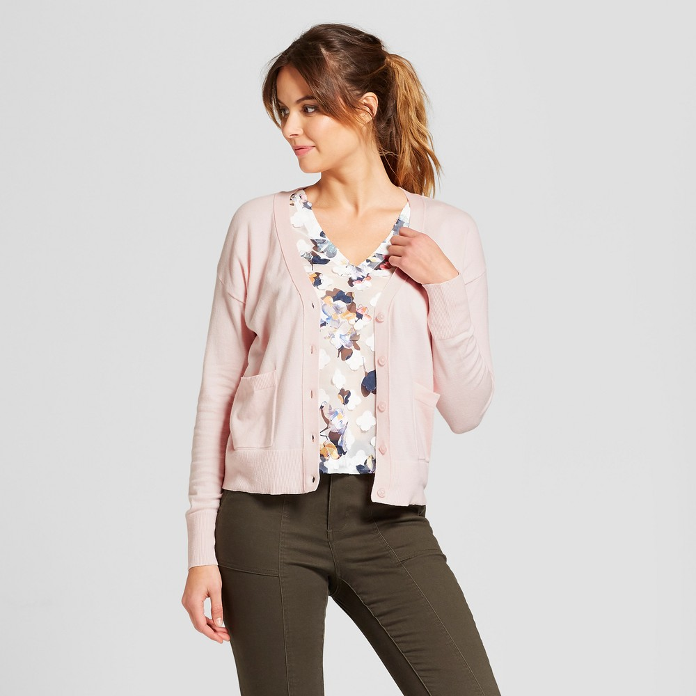 Women's Any Day V-Neck Cardigan Sweater - A New Day Light Pink Xxl