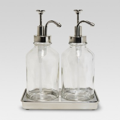 Double Soap Pump Oil Can Clear - Threshold™