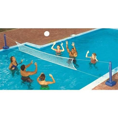 Swimline 9186 Cross Inground Swimming Pool Fun Volleyball Net Game