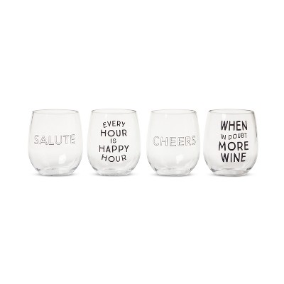 Plastic Stemless Wine Glasses 13.4oz Set of 4 - Room Essentials™
