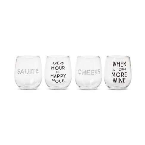 Plastic Stemless Wine Glasses 13.4oz Set of 4 - Room Essentials™ - image 1 of 2