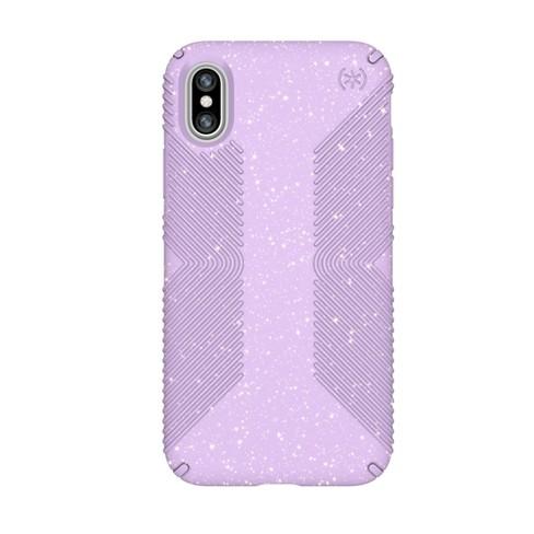 reputable site a76cd 65486 Speck Apple iPhone X Case Presidio Grip - Purple/Gold Glitter
