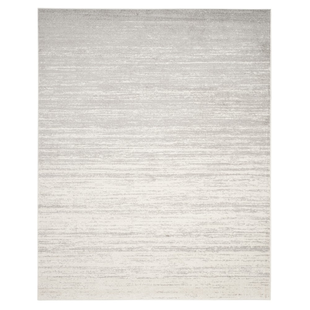Ivory/Silver Solid Loomed Area Rug 11'X15' - Safavieh