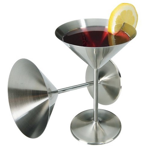Stainless Steel Cocktail Glasses - Set of 2 - image 1 of 1