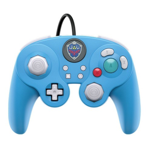 Nintendo Legend of Zelda Link Wired GameCube Fight Pad Pro controller for Nintendo Switch - Blue - image 1 of 4