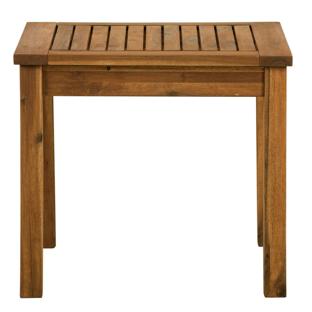 "Image of ""20"""" Wood Patio Simple Side Table Brown - Saracina Home"""