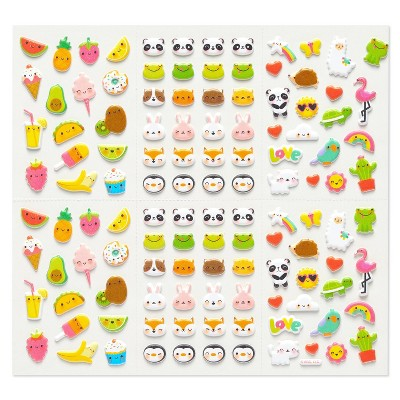 240ct Food, Animals, and Icons Stickers