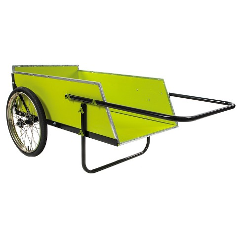sun joe 7 cubic foot heavy duty garden utility cart green target - Garden Utility Cart
