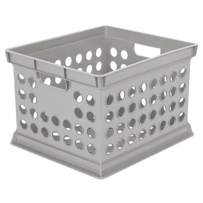 Basic Storage Crate Gray - Room Essentials™