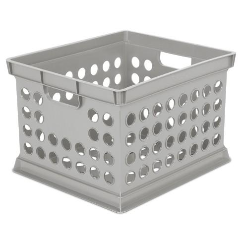 Basic Storage Crate Gray - Room Essentials™ - image 1 of 4