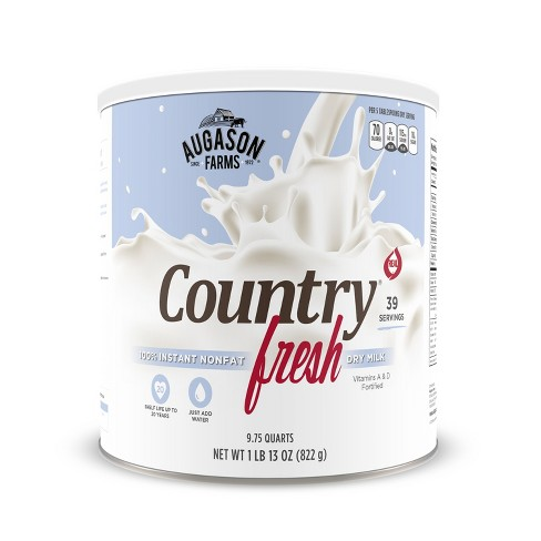 Augason Farms Gluten Free Country Fresh 100% Real Instant Nonfat Dry Milk - 29oz - image 1 of 8