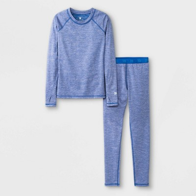 Girls' 2pk Thermal Set Underwear - All in Motion™ Blue