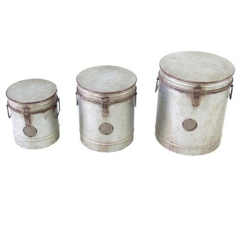Metal Canister Set Silver 3pk - VIP Home & Garden - image 1 of 1