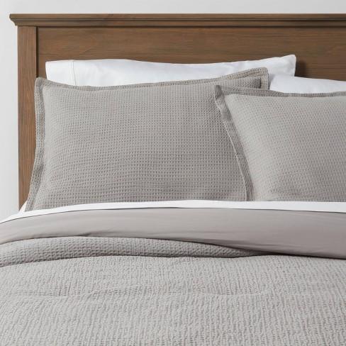 King Washed Waffle Weave Comforter, Target Gray Bedding Sets