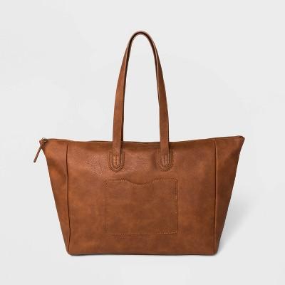 Top Zip Weekender Bag - Universal Thread™ Cognac